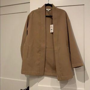NWOT Halston lightweight tunic length coat